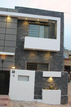 One Story Modern House Interior. 20 One Story Modern House Interior. 15 Examples Single Story Modern Houses From Around the World Front Wall Design, Wooden Front Door Design, Bungalow House Design, Modern House Design, Modern Houses, House Painting Cost, Compound Wall Design, Model House Plan, House Plans