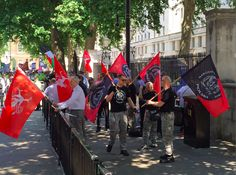 An anti-Semitic Neo-Nazi protest Saturday in London was met by hundreds of counter protesters. (Image source: Mike Opelka / The Blaze)