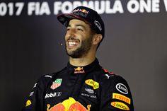 Daniel is smiling after a victory #danielricciardo