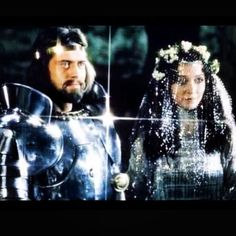 """size: Photo: British actors Nigel Terry as King Arthur and Robert Addie as Mordred in the, 1981 film """"Excalibur"""" : Artists Helen Mirren, Merlin, Camelot Movie, King Arthur Movie, King Arthur Excalibur, Arthur And Guinevere, John Boorman, 1980's Movies, Cult Movies"""