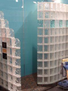 Bathroom. creative glass block bulkhead with lovely ocean blue tile designs for  shower room wall design. Likeable Shower Designs With Glass Tile For Bathroom Renovation Ideas