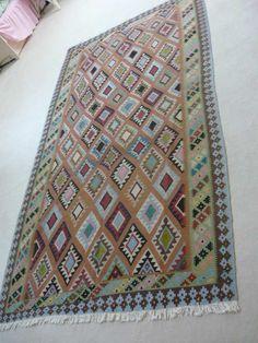 Nowy Kilim Oridar, 145 x 270 zł - 5683722471 - oficjalne archiwum Allegro Kili, Bohemian Rug, Quilts, Blanket, Rugs, Crochet, Home Decor, Farmhouse Rugs, Decoration Home