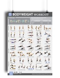 """Bodyweight Workout Exercise Poster for Women 19""""X27"""" Laminated"""