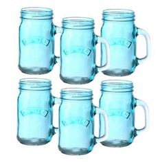 Shop for Handled Drinking Jar Glasses, Pink. Buy Kilner Handled Drinking Jar Glasses set of From our retro glassware collection. Colourful Handled Drinking Jars at NuCasa.