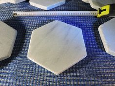 Greek marble tile hexagon semiwhite  kavala honed surface 20cm side to side (7,87 in) 2cm thickness (0,787 in) athanasmarble@gmail.com