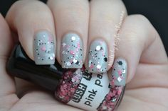 It's like someone sprinkled glitter on newspaper...and made it look good. >>>Nails by Kayla Shevonne: Lush Lacquer - Pink Panther + Meet Mr. Salty
