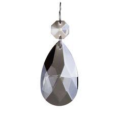 Medium Smoke Grey Almond Crystal from Litecraft Black And White Interior, Bright Purple, Crystal Drop, Light Fittings, Timeless Classic, Monochrome, Almond, Floral Prints, Smoke