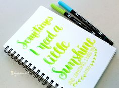 Lettering Lyrics! By Jennie Garcia using Tombow Dual Brush Pen and Tombow Blending Paletee.