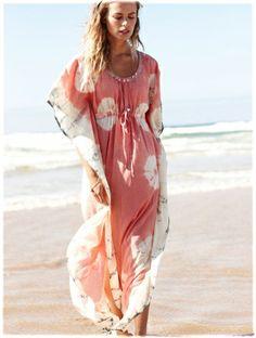 I love the beach! Tie Dye Beach Kaftan  Nomadclothing.com