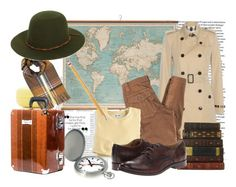 """""""Let Travel The World"""" by beograd-love ❤ liked on Polyvore featuring WALL, Burberry, Trina Turk, Blair, Forever 21, Paper Mate, Miss Selfridge, Brixton, Mondaine and Frye"""