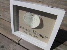 DIY wedding gift - shadow box frame wedding-gifts