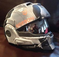 Halo Reach CQC Helmet Kit. Size M/L. Unpainted kit with visor, and parts, trimmed, and ready to paint and wear.