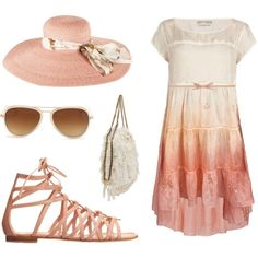 Ombre Pink 2012, created by leiastyle on Polyvore