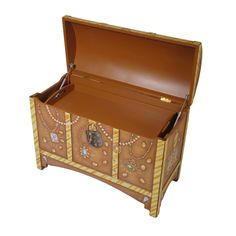 """a TOY BOX from the """"Lil Buccaneer"""" collection of hand painted furniture by Miss Tati and Friends"""