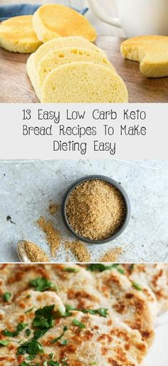13 Easy Low Carb Keto Bread Recipes To Make Dieting Easy - diet Keto Mug Bread, Keto Banana Bread, No Bread Diet, Best Keto Bread, Low Carb Bread, Low Carb Keto, Healthy Bread Recipes, Zucchini Bread Recipes, Whole Food Recipes