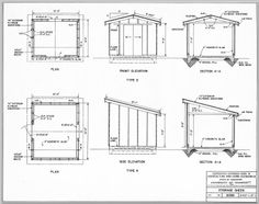 Shed Ideas (tools, woodworking, storage) on Pinterest | Shed Plans ...