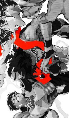 Boku no Hero Academia || Midoriya Izuku || Stain/Chizome Akaguro || Iida Tenya