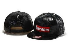 Supreme Snapback Hats All Black Leather 485 Supreme Hat b97d48e51e2