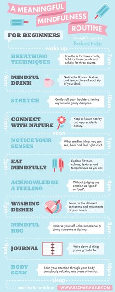 Mindfulness routine