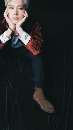 like models! // hq // ten (nct) // colour: royal red // baby don't stop teaser // wallpaper, lockscreen
