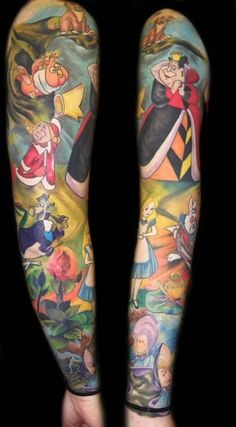 Alice in Wonderland sleeve