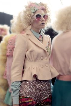 What a lovely collection..  Meadham Kirchhoff spring 2012  More photos->the petite brunett