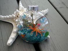 Under the Sea beach Christmas ornaments  ocean by phoebemoll, $12.00