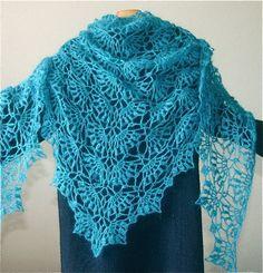 crochet,pretty blue wrap