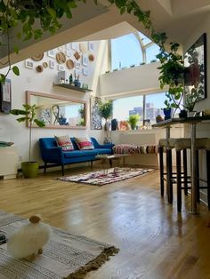 """A Plant Filled, """"Lofty Atrium"""" on the Lower East Side A New York Apartment With High Ceilings and Plenty of Sunlight New York Apartments, New York City Apartment, Dream Apartment, Apartment Interior, French Apartment, New York Homes, Apartment Design, Apartment Therapy, Apartamento New York"""