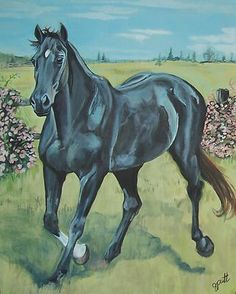 """Horse Painting by Gayle Putt """"Beauty"""""""