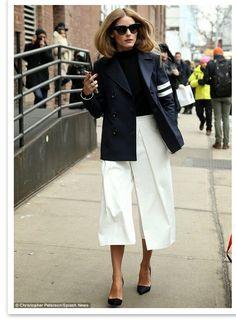 Olivia, white culottes