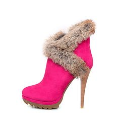 Suede Stiletto Heel Booties/Ankle Boots With Dress(More Colors) - USD $ 39.99 ( love it)