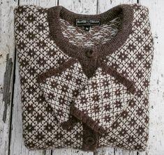 Ullcentrum Knit Stranded, Jumper, Men Sweater, Fair Isle Pattern, Cardigans, Sweaters, Mantel, Knit Patterns, Knitting