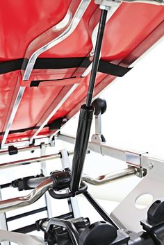 ASX 811 Ambulance Stretcher The anti-shock and head lift are power assisted and can be easily managed even from the side. http://www.amos1.com/en/asx-811-auto-loading-ambulance-stretcher/ #ambulance #stretcher #cot #rescue #ems #ambulancemanufacturers