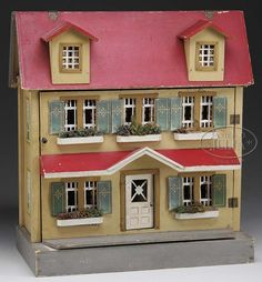 Lot 3083. SCHOENHUT DOLL HOUSE. (12027) nice old house and great old look. .....Rick Maccione-Dollhouse Builder www.dollhousemansions.com