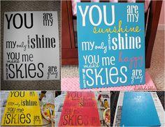 Dibble Dabbles : Nursery: You Are My Sunshine