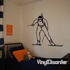 Skiing Wall Decal - Vinyl Decal - Car Decal - DC 022