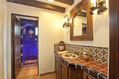 talavera tile for mexican bathroom design  within mexican tile designs