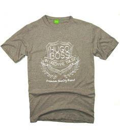 T-shirt męski Hugo Boss szary