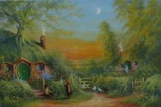 Tolkien Painting - The Shire Frodo And Sam Making Plans by Joe Gilronan