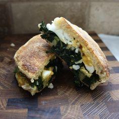 Kale, Egg, Cheese Breakfast Sandwich