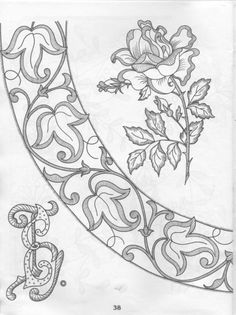 Grand Sewing Embroidery Designs At Home Ideas. Beauteous Finished Sewing Embroidery Designs At Home Ideas. Embroidery Designs, Beaded Embroidery, Hand Embroidery, Machine Embroidery, Geometric Embroidery, Simple Embroidery, Stencils, Pintura Country, Cutwork