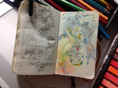 Numbers 161 and 162 of Kenneth Rocafort's 365 day sketch project (2014).