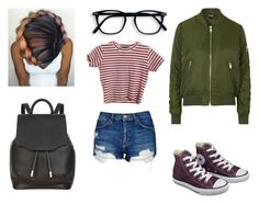 """""""swag"""" by dariatj ❤ liked on Polyvore featuring Topshop, Converse and rag & bone"""