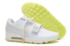size 40 f3255 548de Hot Lastet Nike Air Yeezy 2 SP Max 90 the Devil Series Sports Shoes White  Yellow and New Air Max Shoes Online for Sale