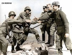 Americans and Russians meet up - ww2 1945