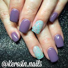 Gel nails nail art light elegance purple nails speckle nail