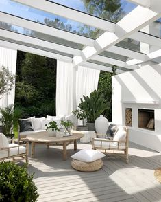 backyard landscape design Would you like to make an outdoor oasis? Or on the other hand, maybe, complete off your porch? Outdoor flooring improves your space and assumes an im Design Exterior, Patio Design, Terrace Design, Backyard Designs, Exterior Siding, Pergola Designs, Modern Exterior, Garden Design, Backyard Patio