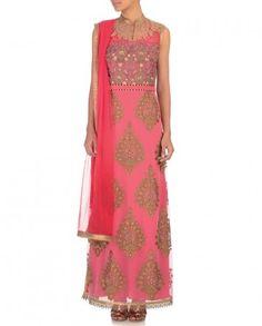 Rose Pink Anarkali Suit - JJ Valaya