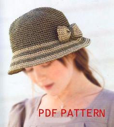 pdf download crochet pattern raffia straw summer sun por BusyPaws